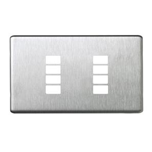 SceneStyLED4 Front Plate Brushed Stainless Steel