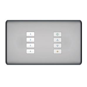 SceneStyLED4 Kit Polished Chrome Plate White Buttons