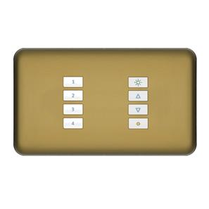SceneStyLED4 Kit Polished Brass Plate White Buttons