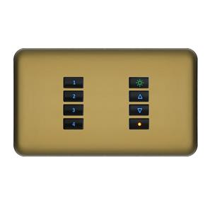 SceneStyLED4 Kit Polished Brass Plate Black Buttons