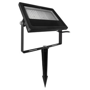 LED Black Floodlight Spike 240V 50W (=500W)  3000K Warm White