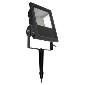 LED Black Floodlight Spike 240V 80W (=800W)  3000K Warm White
