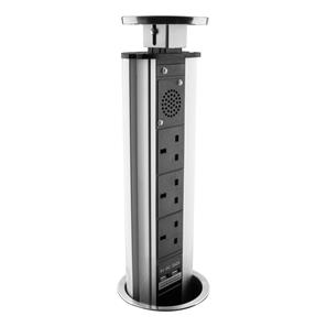 Pop-Up Socket - With Bluetooth Speakers 240V  13A Stainless Steel