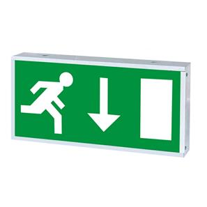 LED Wall Emergency Sign Green 3W