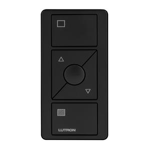 Lutron Pico Wireless 3 Button Raise/Lower and Shade Icons Black