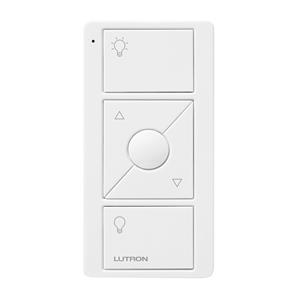 Lutron Pico Wireless 3 Button Raise/Lower and Light Icons White