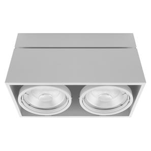Kardamod Surface Adjustable Double Spotlight 240V 2 x 75W GU10 Matt White