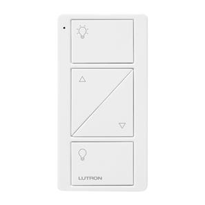Lutron Pico Wireless 2 Button Raise/Lower and Light Icons White