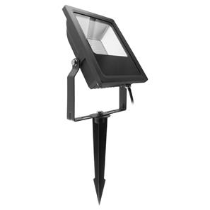LED Black Floodlight Spike 240V 30W (=300W)  Blue