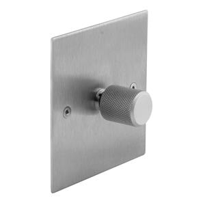 Retro Dimmer Switch Aluminium Silver