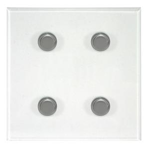 Dimmer Switch 4 gang dimmer switch 400 watt 2 way Polished Stainless Steel / Clear Perpsex