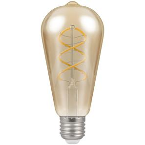 LED Spiral Filament Antique 64mm 2200K ES 6W (=25W)