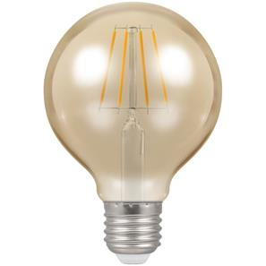 LED Filament Antique Globe 80mm 2200K ES 5W (=40W)