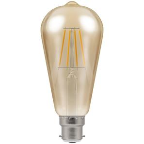 LED Cage Filament Antique 64mm 2200K BC 7.5W (=50W)