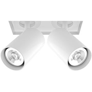 Trimless Square Double Tube Spotlight 2 x 50W RAL 9010 White
