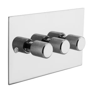 Retro Dimmer Switch Polished Steel