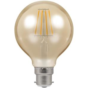 LED Filament Antique Globe 80mm 2200K Dimmable BC 5W (=40W)