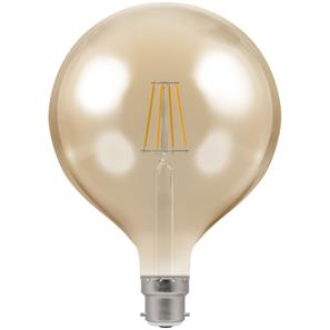LED Filament Antique Globe 125mm 2200K Dimmable BC 7.5W (=60W)