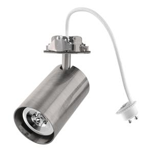 Tube Spotlight GU10 Trimless Downlight Adaptor  50W Satin Nickel