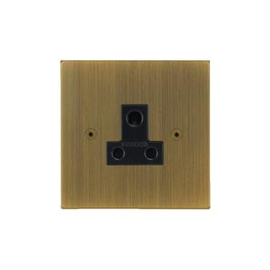 Horizon Unswitched Socket Outlet 1 gang 5 amp Antique Brass