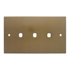 WiseRetro Module Plate Bronze 3 Gang