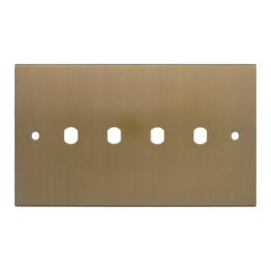 WiseRetro Module Plate Bronze 4 Gang