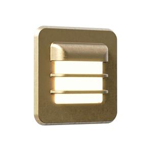 Arran Square LED Coastal Brass 2W