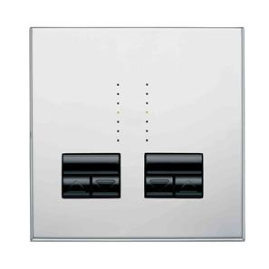 Rania Master 2 Gang Dimmer Chrome 2x250W