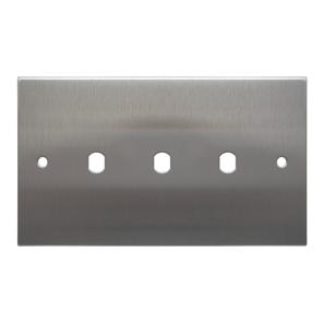 WiseRetro Module Plate Stainless Steel 3 Gang
