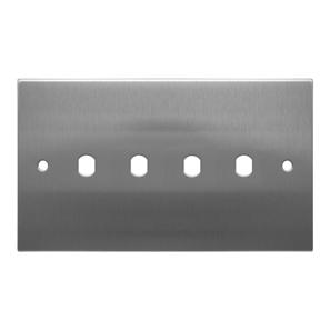 WiseRetro Module Plate Stainless Steel 4 Gang