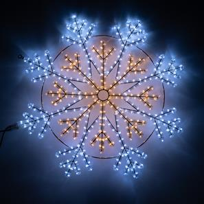 Christmas Snowflake Motif Light Warm White/Cool White White