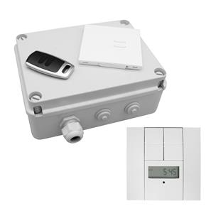 Wise Box 2 Channel Time Clock Kit includes Keypad, Key Fob & Time Clock 2 Channel 2 x 1000W