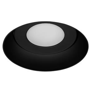 Trimless Connect Fire-Rated Fixed Frosted Downlight IP55 240V Black 50W