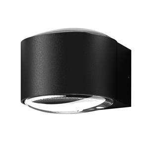Convex Up and Down Wall Light 240V Black 12W