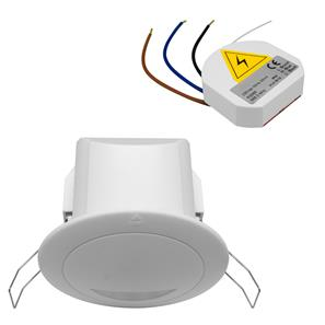 Wired Ceiling flush mounted microwave presence detection switch kit 240V White 400W