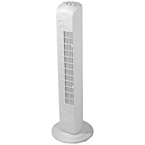 Tower Fan with Timer White Plastic