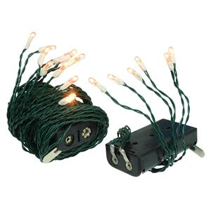 Battery Powered Decorative Fairy Lights 3000K Warm White Green Cable