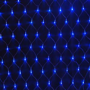 Single Sparkle Net, 84 Lights, Outdoor, 24V Blue Black Cable