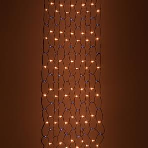 Single Sparkle Net, 84 Lights, Outdoor, 24V 3000K Warm White / Blue Black Cable