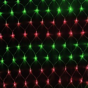 Single Sparkle Net, 84 Lights, Outdoor, 24V Red / Green Black Cable