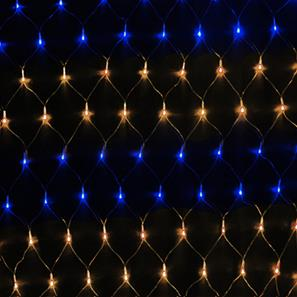 Master Sparkle Net, 84 Lights, Outdoor, 24V 3000K Warm White / Blue Black Cable