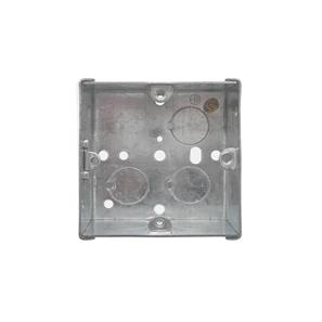 Single Plate Back Box Metal 35mm