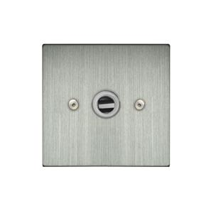 Light Socket 1 gang flex outlet Satin Nickel