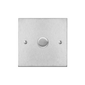 Dimmer Switch (push on/off only) 1 gang 400 watt intermediate Satin Stainless Steel