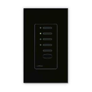 Lutron North American Wall Switches Black Plastic