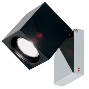 Cubetto Adjustable 240V 50W Black Glass
