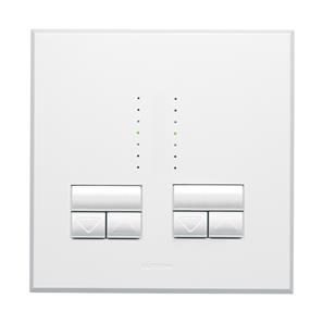 Rania Master 2 Gang Dimmer White 2x250W