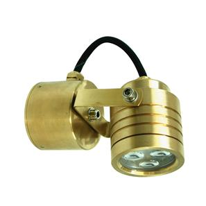 Battlestar Wall Light 240V 3W Brass 3000K Warm White