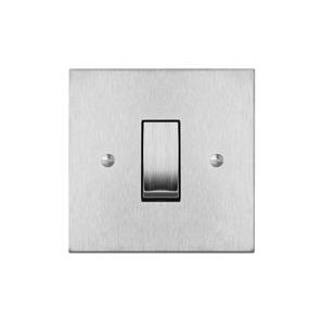 Cooker Switch 1 gang plate 45 amp cooker switch (single plate) Satin Stainless Steel