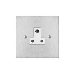 Socket 1 gang 5 amp unswitched Satin Stainless Steel